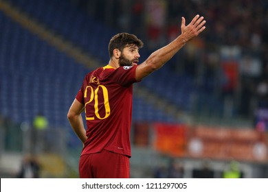 ROME, ITALY - OCTOBER 23,2018:  Federico Fazio during football match UEFA Champions League football AS Roma versus CSKA Mosca at the Olimpic Stadium in Rome.