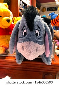 Rome, Italy - October 25, 2019: Eeyore is a character in the Winnie-the-Pooh books by A. A. Milne. Disney store in Rome, Italy.