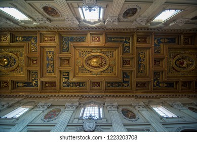 ROME, ITALY - OCTOBER 26, 2018: Interior of Archbasilica of St. John Lateran