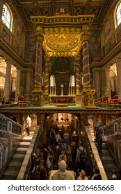ROME, ITALY - OCTOBER 26, 2018: Interior of The Basilica di Santa Maria Maggiore