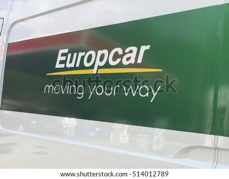 Rome Italy October 5 2016 Europcar Stock Photo Edit Now 514012789