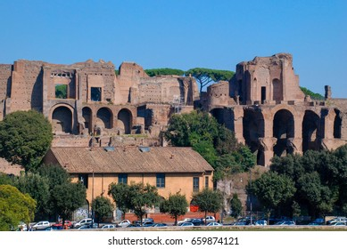 Rome, Italy - October 7, 2009: The Circus Maximus is an ancient Roman chariot racing stadium and mass entertainment venue located in Rome, Italy.