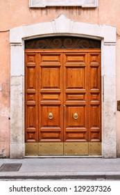 Rome, Italy. Old door, Italian architecture detail.