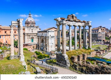 Rome, Italy. Ruins of the Roman Forum.