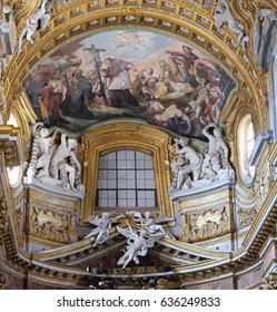 ROME, ITALY - SEPTEMBER 02: St. Charles Borromeo Combating the Plague, Rome, Italy on September 02, 2016.