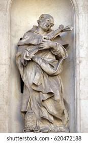 ROME, ITALY - SEPTEMBER 03: Saint Philip Benizi, San Marcello al Corso church in Rome, Italy on September 03, 2016.