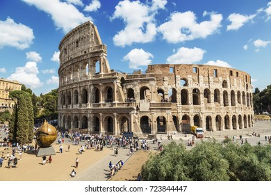 ROME, ITALY - SEPTEMBER 09, 2017: View of the Colosseum, Rome, Italy