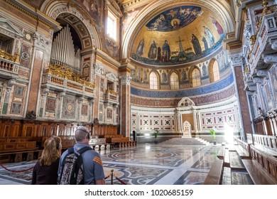 ROME, ITALY - SEPTEMBER 13, 2013: Interior of Basilica di San Giovanni in Laterano, Rome, Italy