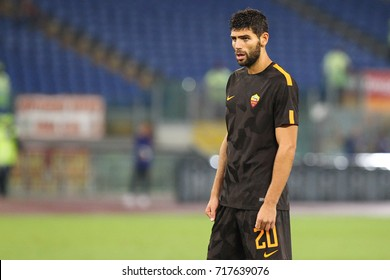 ROME, ITALY - SEPTEMBER 16,2017: Federico Fazio during fotball match serie A League 2017/2018 between AS Roma vs Hellas Verona at the Olimpic Stadium on September 16, 2017 in Rome.