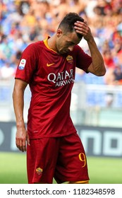ROME, ITALY - SEPTEMBER 16,2018: Stephan El Shaarawy during football match serie A League 2018/2019 between AS Roma vs ChievoVerona at the Olimpic Stadium in Rome.