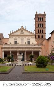 ROME, ITALY - SEPTEMBER 2, 2019: Santa Cecilia in Trastevere (Basilica di Santa Cecilia in Trastevere)
