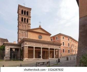ROME, ITALY - SEPTEMBER 2, 2019: San Giorgio in Velabro
