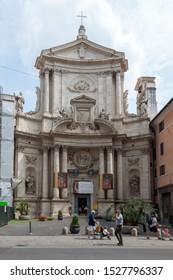 ROME, ITALY - SEPTEMBER 2, 2019: Chiesa di San Marcello al Corso