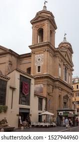 ROME, ITALY - SEPTEMBER 2, 2019: Via del Babuino