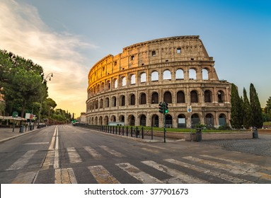 Rome Italy, sunrise at Colosseum (Coliseum)