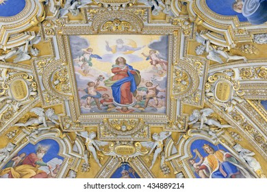 Rome, Italy-May,16.2016 - Interior of basilica of Saint Mary Major - one of the five great ancient basilicas in Rome