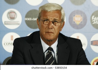 ROME - JULY 1: Press conference of the Italian national coach Marcello Lippi - July 1, 2008 in Rome