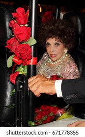 Rome July 4, 2017: Gina Lollobrigida celebrates 90 years in Via Condotti among the people. July 4, Rome, Italy