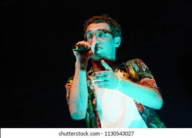 "ROME - July 5, 2018: The rapper Willie Peyote performs during the event ""Villa Ada Roma Incontra il Mondo""."