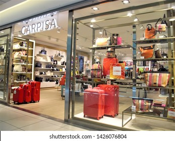 Rome, June 11,2019 Carpisa bags and suitecases store entrance in Leonardo shopping center in Rome