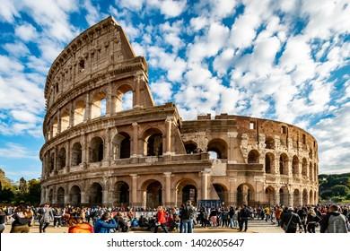 Rome, Lazio / Italy - December 3 2018: Roman Colosseum
