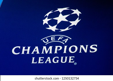 uefa champions league logo images stock photos vectors shutterstock https www shutterstock com image photo rome nov 27 2018 logo champions 1250132734