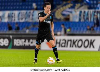 ROME - NOV 8, 2018: Florian Thauvin 26. SS Lazio - Olympique Marseille. UEFA Europe League. Stadio Olimpico.