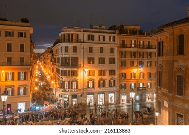ROME - NOVEMBER 1, 2012: The steps of Piazza di Spagna are one of the most famous squares of Rome. It owes its name to the palace of Spain, Embassy of the Iberian been to the Holy See
