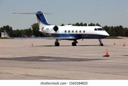 Rome, NY/USA - June 7, 2014: Gulfstream G650 at the service facilities of the Griffiss International Airport