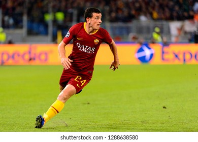 ROME - OCT 23, 2018: Alessandro Florenzi 24 in action. AS Roma - CSKA Moscow. UEFA Champions league. Matchday 4. Stadio Olimpico