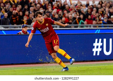ROME - OCT 23, 2018: Cengiz Under 17. AS Roma - CSKA Moscow. UEFA Champions league. Matchday 4. Stadio Olimpico