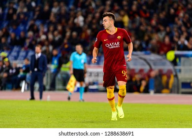 ROME - OCT 23, 2018:  Stephan El Shaarawy 92 in action. AS Roma - CSKA Moscow. UEFA Champions league. Matchday 4. Stadio Olimpico