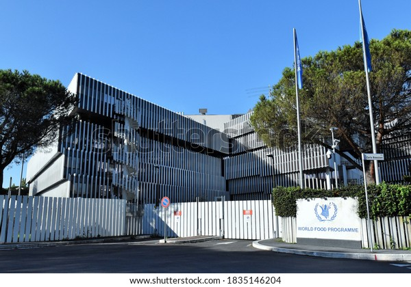 ROME OCTOBER 10 2020 HEADQUARTERS OF THE WORLD FOOD PROGRAMME NOBEL FOR  THE PACE 2020