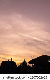Rome skyline on the sunset