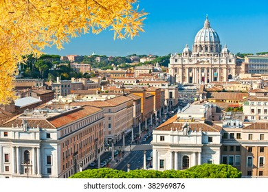 Rome, St. Peter and skyline view.Italy.