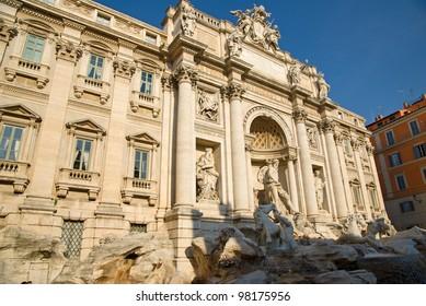 Rome theTrevi Fountain detail