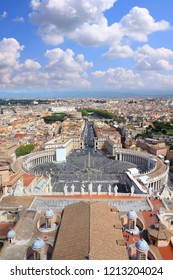 Rome and Vatican - aerial view of Saint Peter's Square.