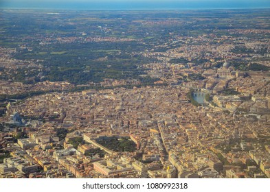 Rome view from aerial