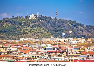 Rome. View of The Monte Mario hill and observatory in Rome. Capital of Italy