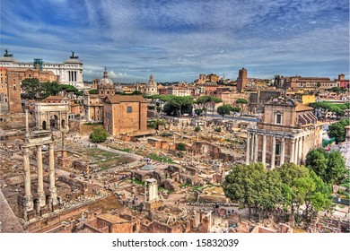 Rome - view over the historic city (palatine)