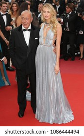 Romee Strijd and Fawaz Gruosi attend the screening of 'Everybody Knows (Todos Lo Saben)' and the opening gala during the 71st annual Cannes Film Festival on May 8, 2018 in Cannes, France.