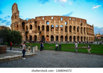Rome/Italy - 09.19.2016: ancient Coliseum (Colosseum) in Rome, Italy