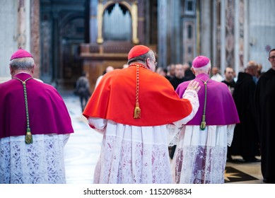 Rome,Italy - 7 September 2017 - celebration of the pilgrimage summorum pontificum for the tenth anniversary, cardinal of the Holy Roman Church Raymond Burke