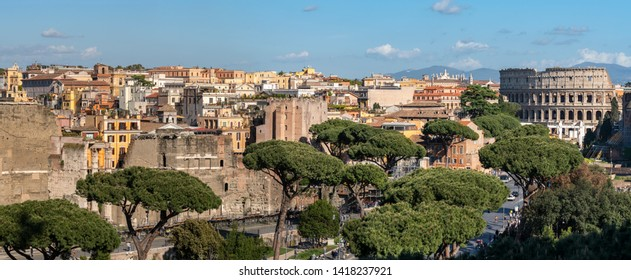 ROME\ITALY - APRIL 29, 2019: Panoramas of Rome are beautiful at any time of the day