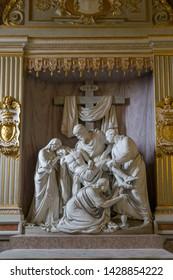 "Rome/Italy - March 22 2019: depositon   by wilhelm Achtermann in the church ""Trinita dei monti"" in rome"