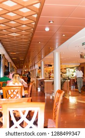 Rome/Italy - September 08 2014: Restaurant on board of MSC Musica cruise ship. The MSC Musica was built in 2006 and is operated by MSC Cruises.