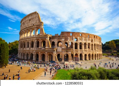 ROME/ITALY-OCT 10: Ancient Roman architectural ruins- Titus Arch on Oct 10 2018 in Rome, Italy. Ancient Roman architectural ruins- Titus Arch in Rome, Italy.