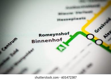 Romeynshof Station. Rotterdam Metro map.