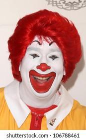 Ronald McDonald  at Camp Ronald McDonald's 16th Annual Family Halloween Carnival. Universal Studios, Universal City, CA. 10-26-08