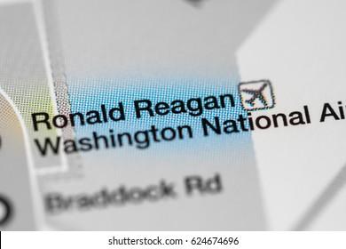 Ronald Reagan Washington National Airport Station. Washington DC